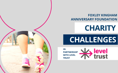 Foxley Kingham Anniversary Foundation launch charity challenges